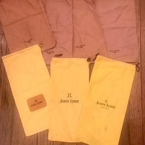 (7) Alaia and John lobb designer shoe bags